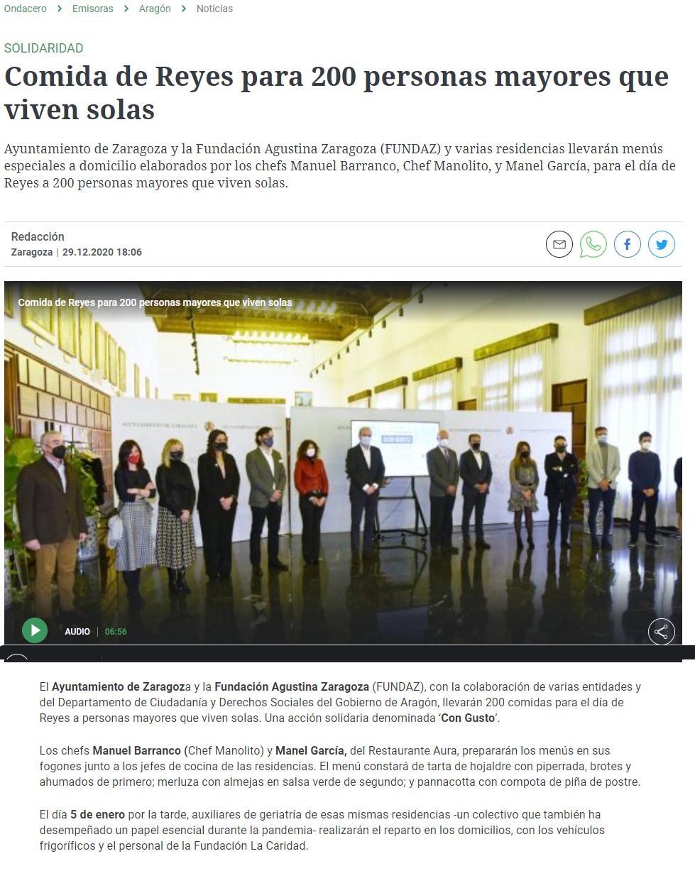 Comida de Reyes para 200 personas mayores que viven solas - Onda Cer_ - www.ondacero.es